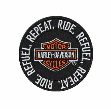 H-D Motorclothes Harley-Davidson Aufnäher Ride Refuel Repeat XS  - EM279661