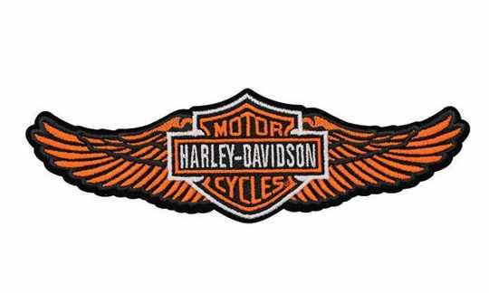 H-D Motorclothes Harley-Davidson Aufnäher Straight Wing, orange  - EM339813