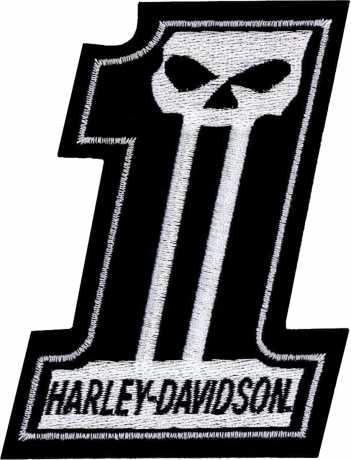 H-D Motorclothes Harley-Davidson Patch #1 Skull  - EM718302