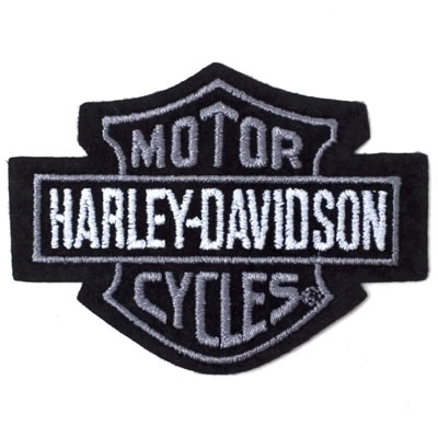 H-D Motorclothes Harley-Davidson Patch Bar & Shield, silver / XS  - EMB302541