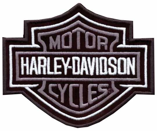 H-D Motorclothes Harley-Davidson Patch Bar & Shield, silver / M  - EMB 302543