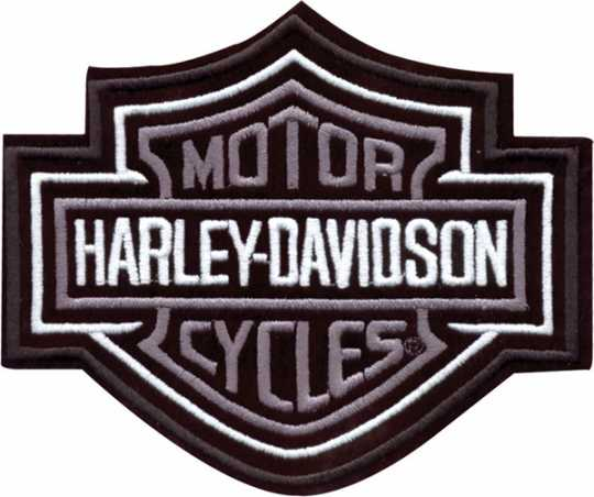 H-D Motorclothes Harley-Davidson Patch Bar & Shield, silver / XL  - EMB302546
