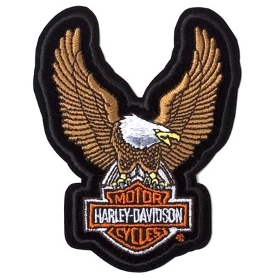Harley-Davidson Aufnäher Upwing Eagle Brown, XS