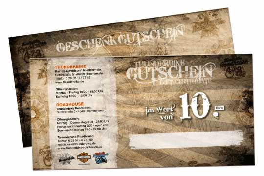 Thunderbike Thunderbike Gift Certificate 10 Euro - GUTSCHEIN10