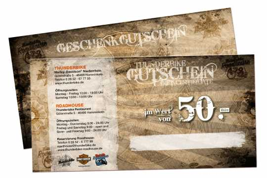 Thunderbike Thunderbike Geschenkgutschein 50 Euro - GUTSCHEIN50