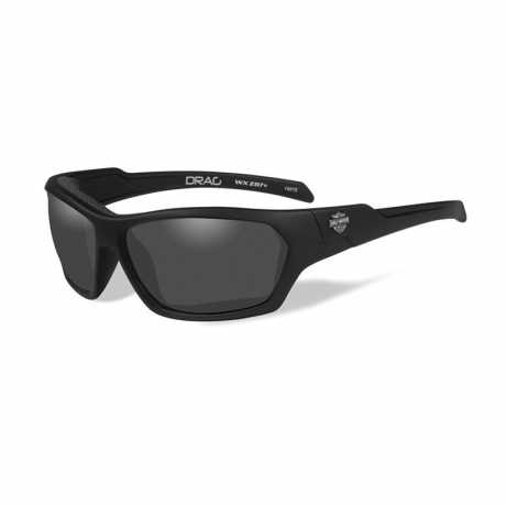 H-D Motorclothes Harley-Davidson Wiley X Drag Sunglasses, smoke grey  - HADRA01