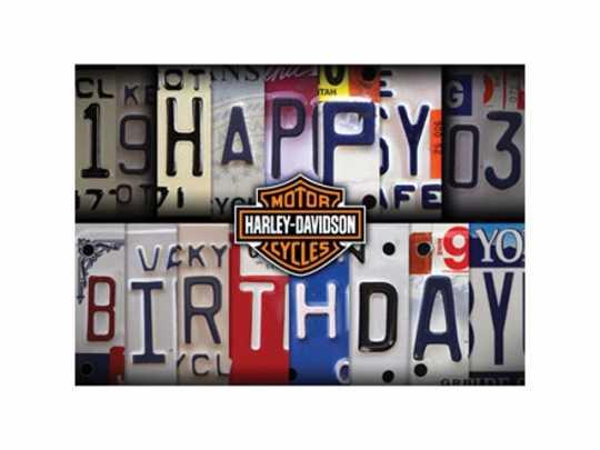 H-D Motorclothes Harley-Davidson Geburtstagskarte License Plate  - HDL-20002