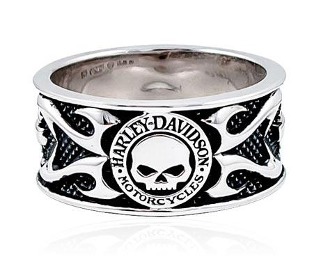H-D Motorclothes Harley-Davidson Ring Skull & Tribal Flame  - HDR0399