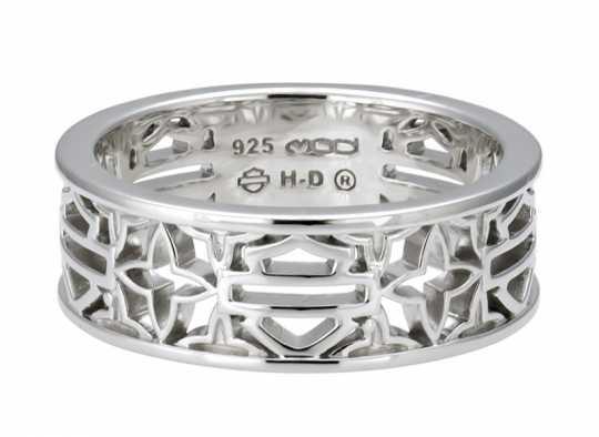 H-D Motorclothes Harley-Davidson Ring Bar & Shield Medallion silver  - HDR0508