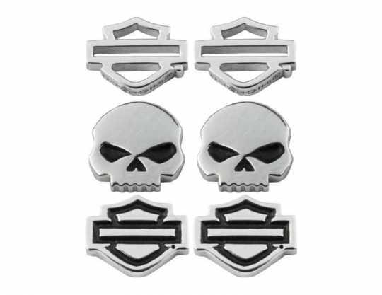 H-D Motorclothes Harley-Davidson Ohrringe Bar & Shield Skull Stud  - HDS0005