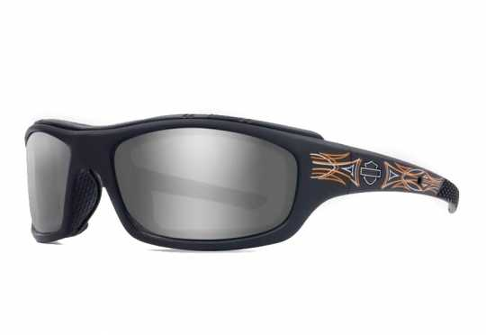 H-D Motorclothes Harley-Davidson Wiley X Sonnenbrille Tunnel Pinstripe PPZ Grey Silver Flash  - HDTNL24