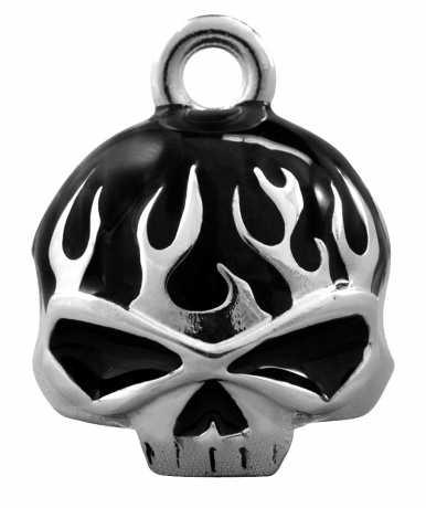 H-D Motorclothes Harley-Davidson Ride Bell Black Flame Skull  - HRB039