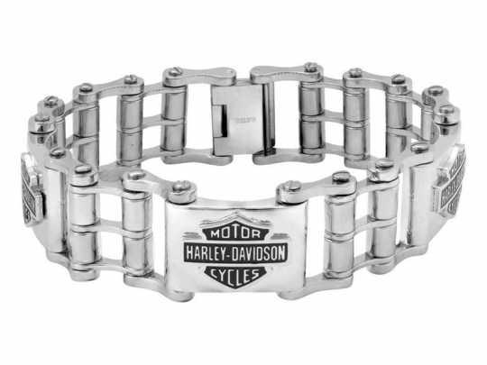 H-D Motorclothes Harley-Davidson Bracelet Steel Bike Chain Bar & Shield silver  - HSB0207