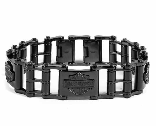 H-D Motorclothes Harley-Davidson Bracelet Blackout Bike Chain Bar & Shield  - HSB0210