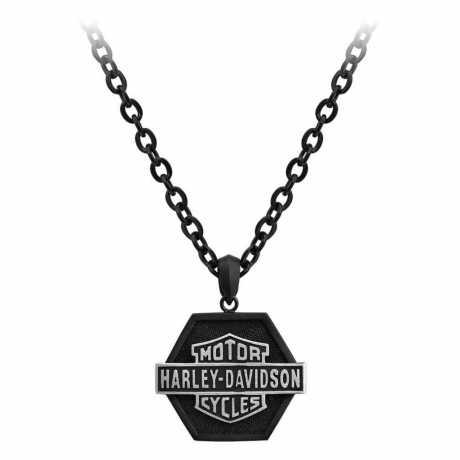H-D Motorclothes Harley-Davidson Halskette Bar & Shield Off-Road Stahl, schwarz  - HSN0051