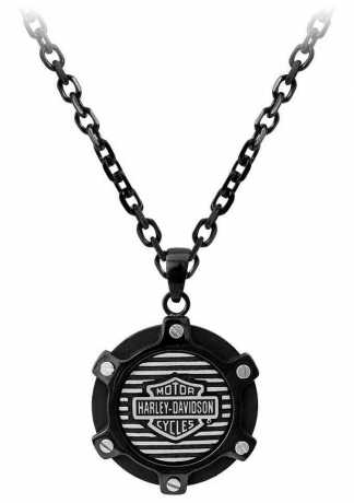 H-D Motorclothes Harley-Davidson Halskette Black Edge Circle  - HSN0053