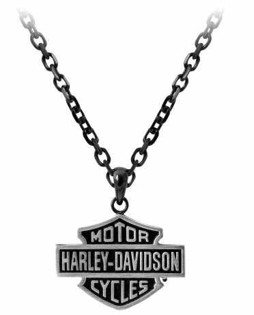 H-D Motorclothes Harley-Davidson Necklace Black Edge Bar & Shield  - HSN0054