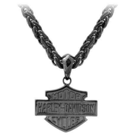 H-D Motorclothes Harley-Davidson Necklace Blackout Bar & Shield  - HSN0062