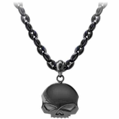 H-D Motorclothes Harley-Davidson Necklace Blackout Skull  - HSN0063-24