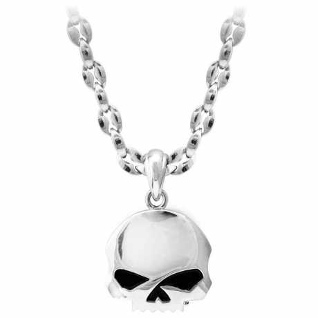 """H-D Motorclothes Harley-Davidson Necklace Steel Skull 24""""  - HSN0065-24"""