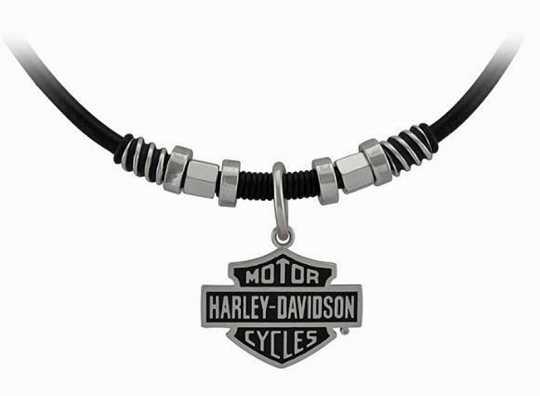 H-D Motorclothes Harley-Davidson Necklace Nut & Coil Bar & Shield  - HSN0071V