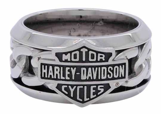 H-D Motorclothes Harley-Davidson Steel Chain B&S Ring  - HSR0031