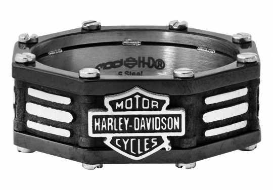 H-D Motorclothes Harley-Davidson Ring Black Edge Band  - HSR0056