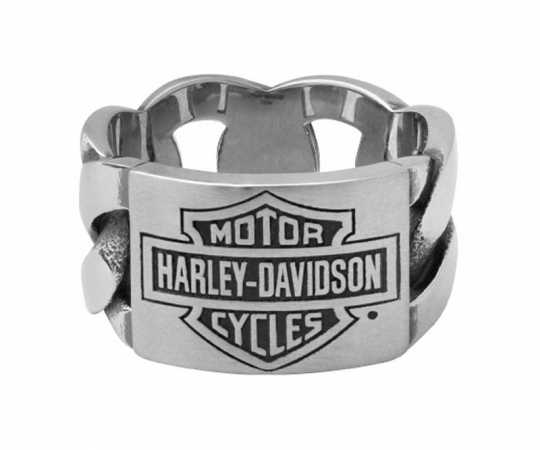 H-D Motorclothes Harley-Davidson Ring Bar & Shield ID Chain  - HSR0072