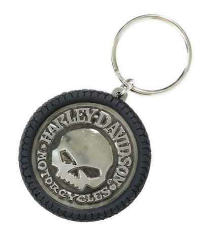 H-D Motorclothes Harley-Davidson Willie G Skull Keychain Hubcap  - KY102975