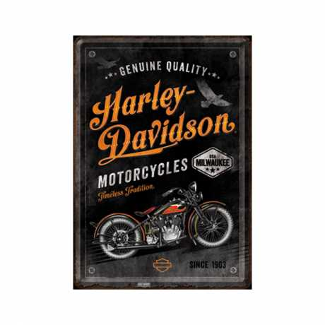 H-D Motorclothes Harley-Davidson Blechpostkarte Timeless Tradition  - NA10329