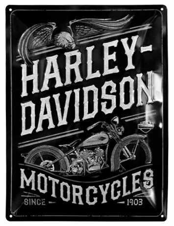 H-D Motorclothes Harley-Davidson Blechschild Motorcycles Egale  - NA23301