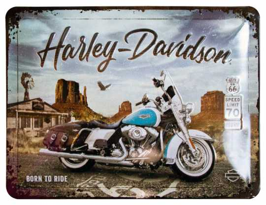 H-D Motorclothes Harley-Davidson Blechschild Route 66 Road King Classic  - NA26255