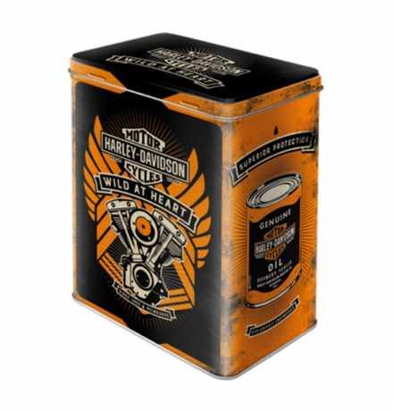 H-D Motorclothes Harley-Davidson Tin Storage Box Wild at Heart  - NA30141