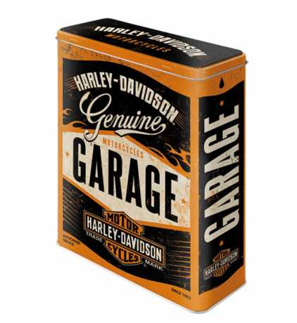 H-D Motorclothes Harley-Davidson Tin Storage Box Genuine Garage  - NA30321