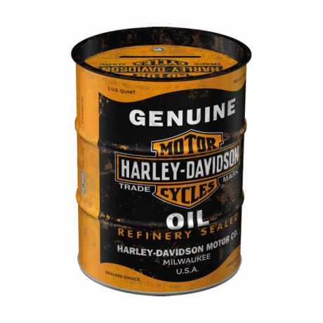 H-D Motorclothes Harley-Davidson Money Box Oil Barrel  - NA31507