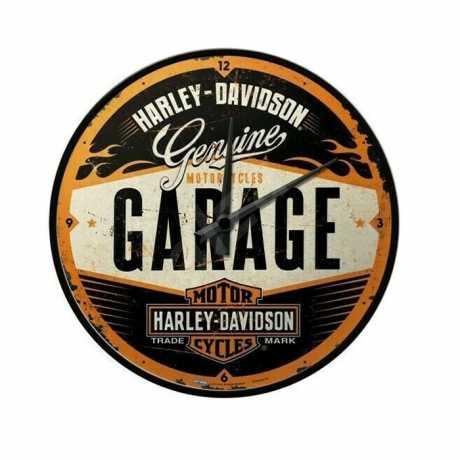 H-D Motorclothes Harley-Davidson Wall Clock Garage  - NA51083