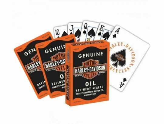 H-D Motorclothes Harley-Davidson Playing Cards Genuine Oil  - NA639
