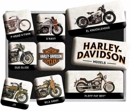 H-D Motorclothes Magnet-Set Harley-Davidson Models  - NA83102