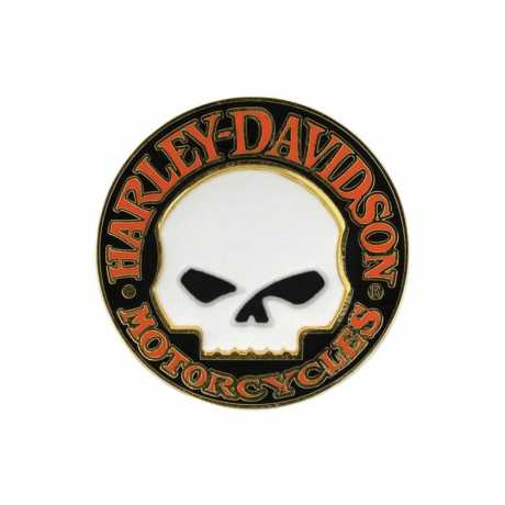 H-D Motorclothes Harley-Davidson Pin Hubcap Willie G Skull  - P1199262