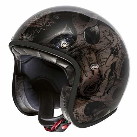 Premier Helmets Premier Le Petit Jethelmet BD black & chromed  - PR9PET21V