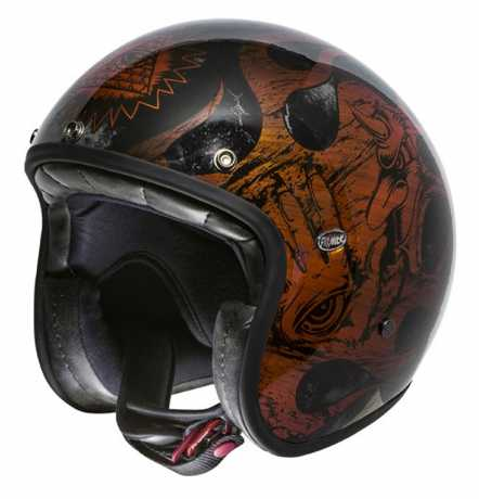 Premier Helmets Premier Le Petit Jethelm BD orange & chromed  - PR9PET23V