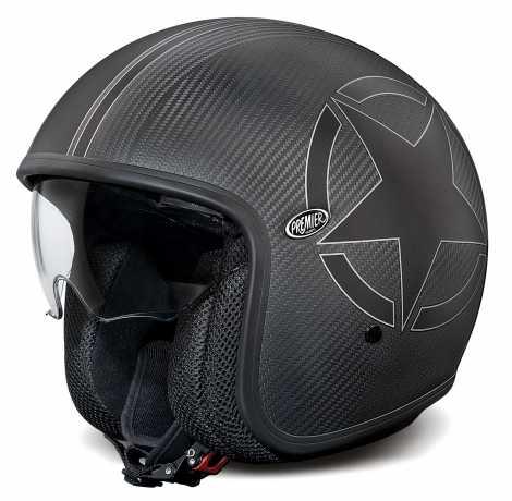 Premier Helmets Premier Vintage Jethelmet Carbon Star MM - PR9VIN28-M