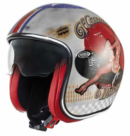 Premier Helmets Premier Jet Vintage Pin Up Old Style, silber  - PR9VIN47V