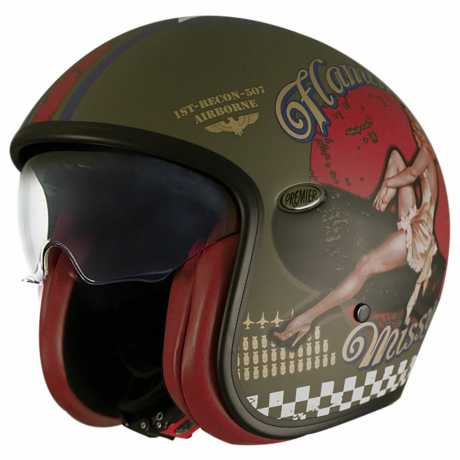 Premier Helmets Premier Vintage Jethelm Pin Up Military M - PR9VIN50-M