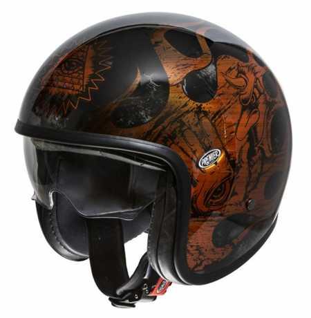 Premier Helmets Premier Vintage Jethelm BD orange & chromed  - PR9VIN78V