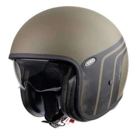Premier Helmets Premier Vintage Jethelm BTR Military Green BM  - PR9VIN86-1500V