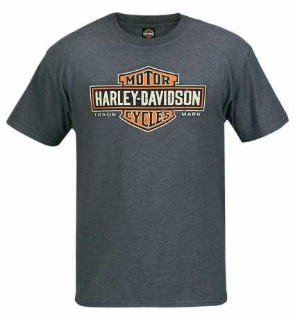 H-D Motorclothes Harley-Davidson T-Shirt Long Bar & Shield grau  - R003422V