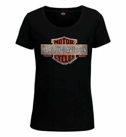 H-D Motorclothes Harley-Davidson Damen T-Shirt Multibly OR schwarz  - R003430V