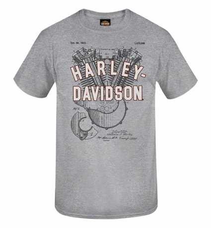 H-D Motorclothes Harley-Davidson T-Shirt Patents grau  - R0040333V