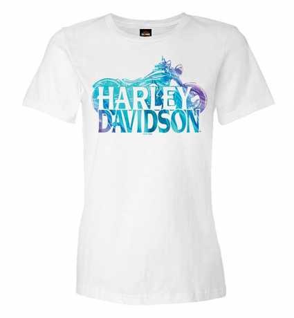 H-D Motorclothes Harley-Davidson Damen T-Shirt Name Silhouette weiß  - R0040862V